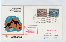 PAKISTAN: 1965 Lufthansa First Flight Cover To Greece (S332) - Pakistan