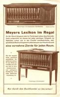 "Leipzig 1930 2-s Deko Art Deco Verkaufsprospekt "" Meyers Lexikon Bibliographisches Institut Regale "" Reklame Werbung A4 - Publicités"