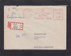 EINGESCHRIEBENER BRIEF   AUS MÜNSTER. - Covers & Documents