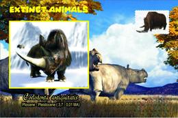 Vignettes De Fantaisie, Extinct Animals : Rhinocerotidae, Coelodonta Antiquitatis - Fantasy Labels
