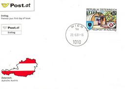 AUTRICHE. N°2182 De 2001 Sur Enveloppe 1er Jour. Poste Militaire à L'étranger. - Post