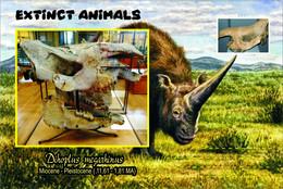Vignettes De Fantaisie, Extinct Animals : Rhinocerotidae, Dihoplus Megarhinus - Fantasy Labels
