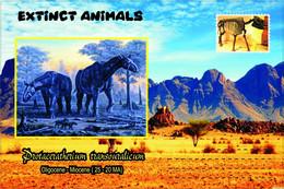 Vignettes De Fantaisie, Extinct Animals : Rhinocerotidae, Protaceratherium Transouralicum - Fantasy Labels