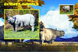 Vignettes De Fantaisie, Extinct Animals : Rhinocerotidae, Rusingaceros Leakeyi - Fantasy Labels