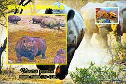 Vignettes De Fantaisie, Extinct Animals : Rhinocerotidae, Teleoceras Proterum - Fantasy Labels