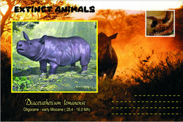 Vignettes De Fantaisie, Extinct Animals : Rhinocerotidae, Diaceratherium Lemanense - Fantasy Labels