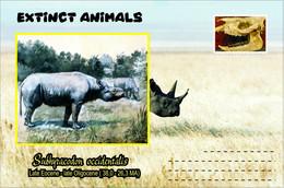 Vignettes De Fantaisie, Extinct Animals : Rhinocerotidae, Subhyracodon Occidentalis - Fantasy Labels
