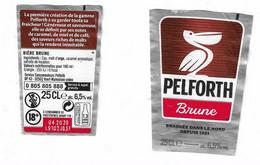 E 165 - BIERE PELFORTH -  ETIQUETTE FORMAT TRAPEZE  BIERE BRUNE - Bier