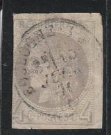Timbre  France  Type  Cérès Dite émission De Bordeaux N° 41 B Cachet à Date  Oblitéré Boulogne , Second Choix - 1870 Emissione Di Bordeaux