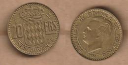 MONACO   20 Francs 1951 Aluminium-bronze • 4.1 G • ⌀ 23.5 Mm KM# 131 - 1949-1956 Old Francs