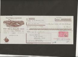 LETTRE DE CHANGE -PELLETERIES ET FOURURES -TONY GAY ET SALPA -THOISSEY -AIN -ANNEE 1962 - Bills Of Exchange