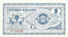 MACEDONIA - 10 DENAR - 1992 - Pick 1 - UNC. - National Bank - Macedonia