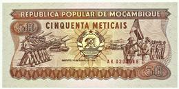 Mozambique - 50 Meticais - 16.06.1986 - Unc. - P 129.b - Serie AK - Mozambique
