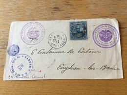 K18 Kolumbien 1912 Briefvorderseite Von Bogotá über Paris Nach Enghien-les-Bains - Colombia