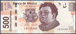 MEXICO - MEXIQUE - MEXIKO 500 PESOS P-126g Diego Rivera Desnudo Con Alcatraces - Frida Kahlo El Abrazo De Amor 2010 UNC - Mexico