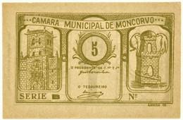 MONCORVO ( TORRE DE )- Cédula De 5 Centavos - Série B - M.A. 2211 - ND - Unc. - Portugal - Emergency Paper Money Notgeld - Portugal