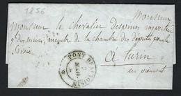 FRANCE Préphilatélie 1857: LAC De Pont De Beauvoisin à Turin, Cachets Sardes - Sonstige