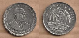MAURICIO  5 Rupees 1991  Copper-nickel • 12.62 G • ⌀ 31.0 Mm KM# 56, Schön# 5 - Mauritius
