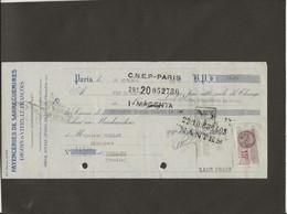 LETTRE DE CHANGE - FAYENCERIES DE SARREGUEMINES -DIGOIN ET VITRY LE FRANCOIS -1933 - Bills Of Exchange