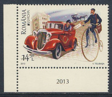 Romania Romana Rumänien 2013 Mi 6706 ** Auto Und Fahrrad - Postfahrzeuge / Mail Vehicles / Véhicules De Courrier - Post