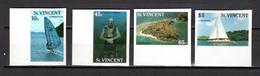SAINT VINCENT   N° 1050 à 1053  NON DENTELES    NEUFS SANS CHARNIERE   COTE ? €   TOURISME SPORT BATEAUX - St.Vincent (1979-...)