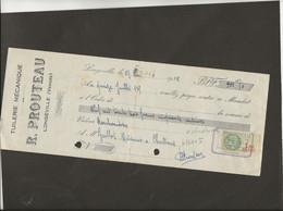 LETTRE DE CHANGE - TUILERIE MECANIQUE -R .PROUTEAU LONGEVILLE -VENDEE -ANNEE 1935 - Bills Of Exchange