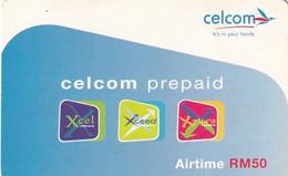MALAYSIA - Celcom Prepaid Card RM 50, Exp.date 30/04/06, Used - Malaysia