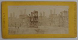 VARROQUIER - Désastres De Paris. 1870-71 N°191 L'Hôtel-de-ville Incendié 1871 TBE Commune Incendie Vue Stéréoscopique - Stereoscopic