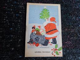Willy Schermelé,  Père Noël Avec Sa Hotte, Sapin, Poupée, Ourson   (F7) - Schermele, Willy