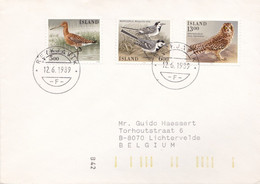 Gelopen Brief Van Reiksjavik Naar Lichtervelde Met Nrs 597 - 621 - 644 / Vogels / Oiseau / Birds - Lettres & Documents