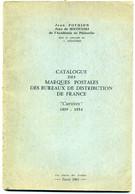 "Catalogue Marques Postales ""cursives""  Pothion  1963 - Cancellations"