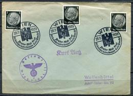 """German Empires/Österreich  1939 Postsachen Cover  Mit Mi.512 MeF U. Propaganda SST""""WIEN-Prater-Mai-Fest """" 1 Beleg - Lettres & Documents"""