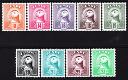 Lundy Island - 1982 - Birds - Tupic - Mint Definitive Stamp Set - Emisiones Locales