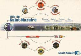 F23 Cpa  / CARTE CPM Publicitaire PUB Advertising Card  Cart' Com SPORT Saint-Nazaire PORT Tintin VILLE - Unclassified