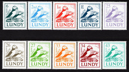 Lundy Island - 2002 - Birds - Tupic - Mint Definitive Stamp Set - Emisiones Locales