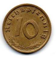 Allemagne -  10 Reichspfennig 1937 G TTB+ - 10 Reichspfennig