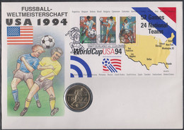 Soccer World Cup 1994 - Football - UNITED STATES - SWITZERLAND - Coin Letter - 1994 – Estados Unidos
