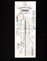 ROUEN 1860 - RARE Lettre De Change 1860 - FERBLANTERIE, ZINGUERIE - GOSSE - 5 Rue Des Vergetiers - Bills Of Exchange