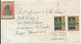 Ecuador Cover Sent Air Mail To Denmark - Ecuador