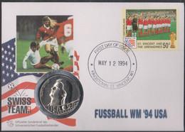Soccer World Cup 1994 - Football - ST. VINCENT - SWITZERLAND - Coin Letter - 1994 – Estados Unidos