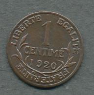 1 Centime Dupuis 1920 - A. 1 Centime