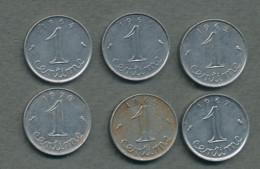 1 Centime épi, Lot De 6 Pièces (1962-64-65-67-69-70) - A. 1 Centime
