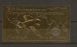 "ANGOLA 1995  Rotary International ""GOLD"" MNH - Rotary, Lions Club"