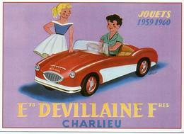 Reproduction D' Affiche Ancienne - Ets DEVILLAINE Fres. - Magasin De Jouets - - Pubblicitari