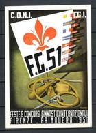 1951 - ** (Catalogo N.° -) (722) CARTOLINA FESTE E CONCORSI GINNICI INTERNAZIONALI FIRENZE - MECCHERI - 1946-60: Ungebraucht