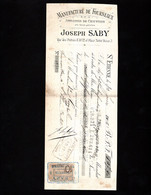ST ETIENNE - Lettre De Change 1906 - Manufacture De Fourneaux - Joseph SABY - Rue Des Prêtres & Place Notre Dame - Bills Of Exchange