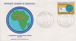 Enveloppe FDC  1er  Jour   MAURITANIE   10éme   Anniversaire   De   L'  Union  Postale  Africaine   1968 - Mauritania (1960-...)