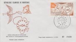 Enveloppe FDC  1er  Jour   MAURITANIE   Union  Africaine  Et   Malgache   Postes  Et   Télécommunications    1973 - Mauritania (1960-...)