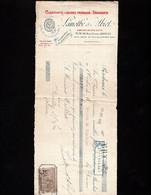 BORDEAUX - Lettre De Change 1905 - Clarifiants, Liquides Français, Droguerie - LAMOTHE & ALBIET - Rue Ducau - Bills Of Exchange