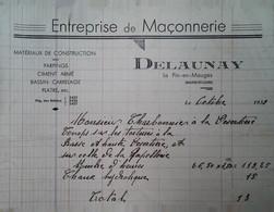 H 1 Facture/document Entete Maçonnerie Là Le Pin En Mauges - Sin Clasificación
